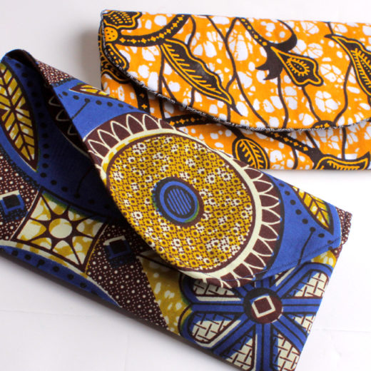 Ankara print check book wallet