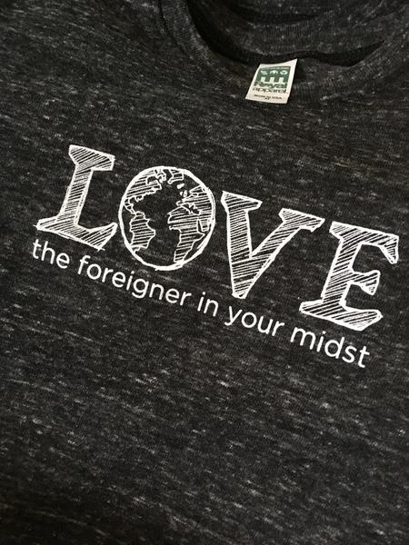 Forai tshirt, supporting refugee work in Missouri