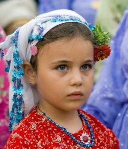 Turkish girl in traditional dress