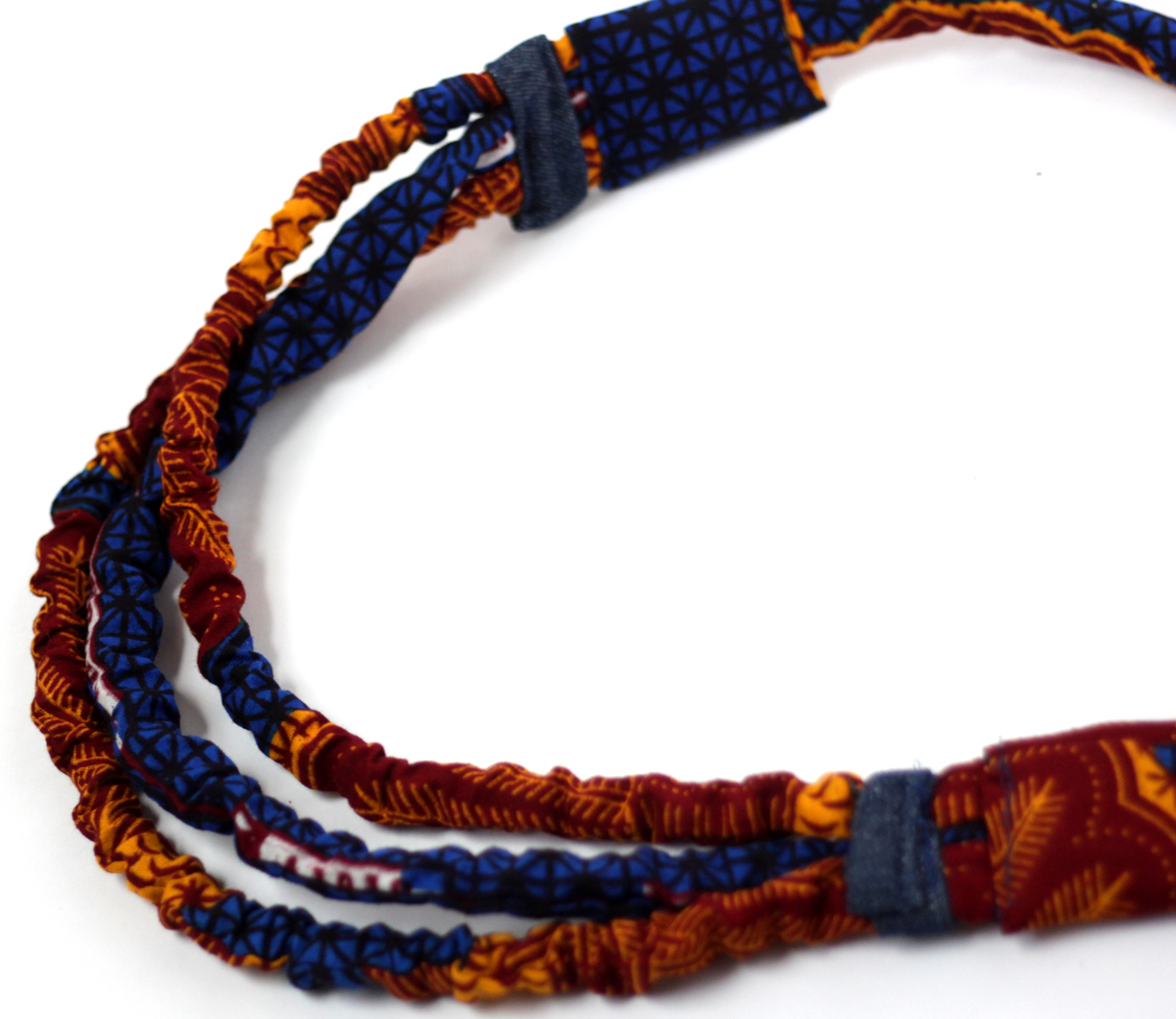 African Cord Nursing Necklace Fabric